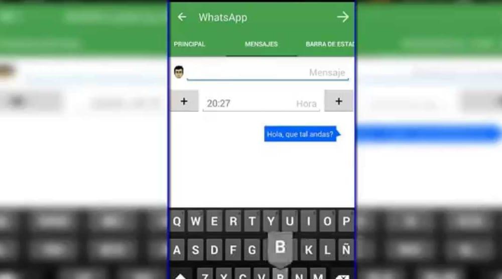 Falsificar una conversación de WhatsApp